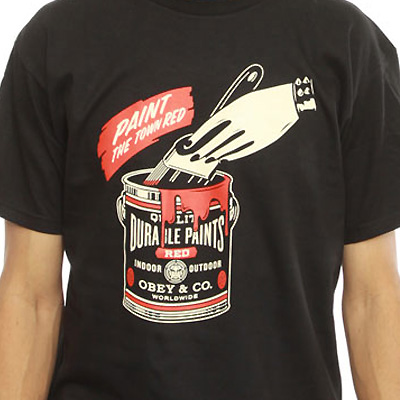 Obey Clothing - OBEY T-Shirt PAINT THE TOWN RED black Obey Clothing ... fab3da67fba9
