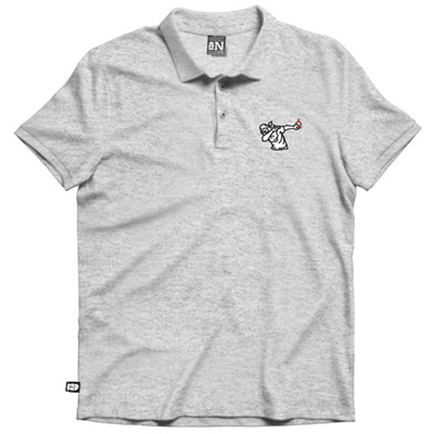 VANDALS ON HOLIDAYS Polo Shirt PALANCA grey