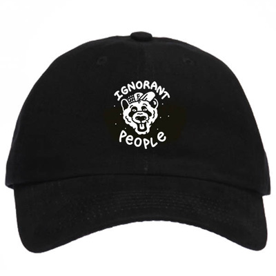 IGNORANT PEOPLE Baseball Cap PANDA black/white