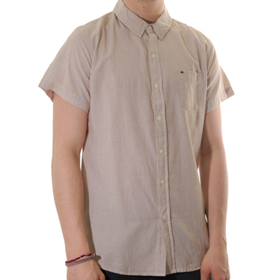 OBEY Shirt PAPERWORK S/S bone brown
