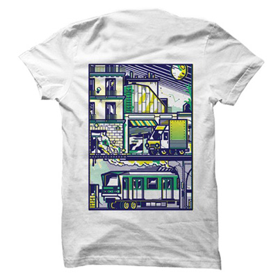 VANDALS ON HOLIDAYS T-Shirt PARIS METRO white