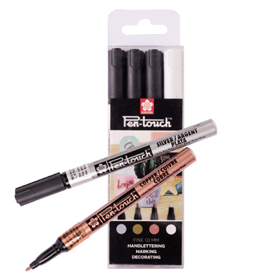 SAKURA Marker Pen-Touch Fine 1mm 4er Set