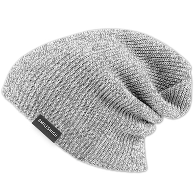 EIGHT MILES HIGH Beanie PERFECT light grey