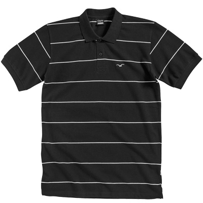 CLEPTOMANICX Polo Shirt STRIPE black