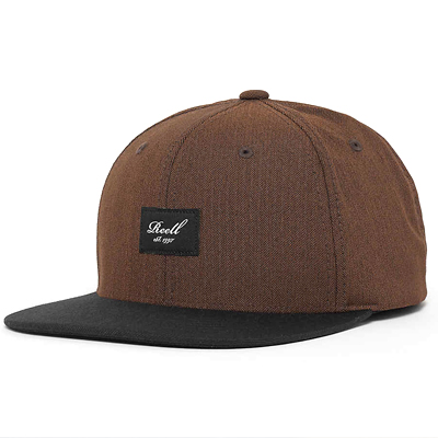 REELL Snap Back Cap PITCHOUT brown herringbone/black