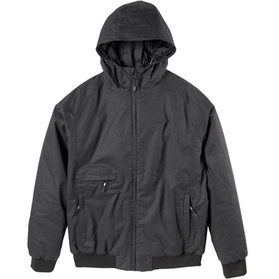 CLEPTOMANICX Winter Jacke POLARZIPPER HEMP 3 black