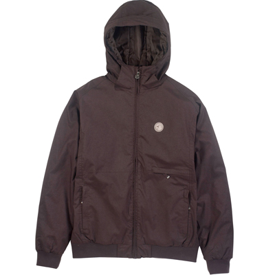 CLEPTOMANICX Winter Jacket POLARZIPPER HEMP dark brown