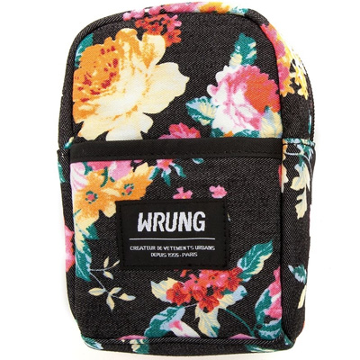 WRUNG Bag POUCH TRAVELER black/flowers
