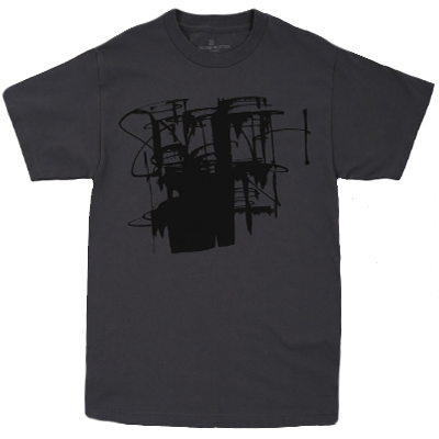 7TH LETTER T-Shirt PUSH DRIPS charcoal