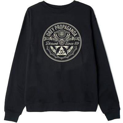 OBEY Sweater PYRAMID OF DISSENT black/creme