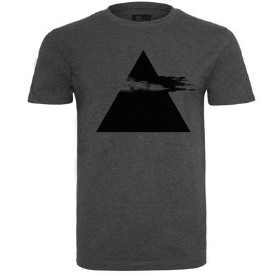 EIGHT MILES HIGH T-Shirt PYRAMID heather dark grey/black