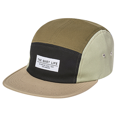 THE QUIET LIFE 5Panel Cap QUAD tan/army