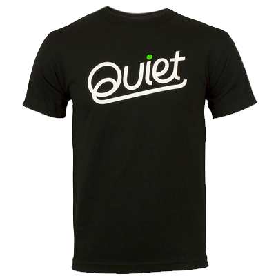 THE QUIET LIFE T-Shirt QUIET PREM black