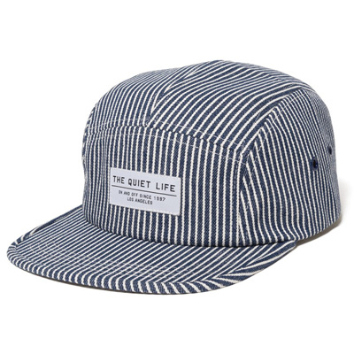 THE QUIET LIFE 5Panel Cap RAILROAD blue/white