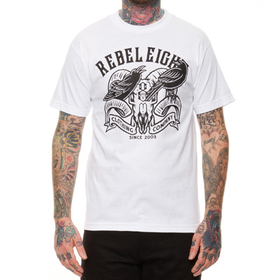 REBEL8 T-Shirt RAVENS white