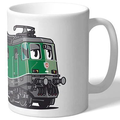 VANDALS ON HOLIDAYS Tasse SBB RE-420 green