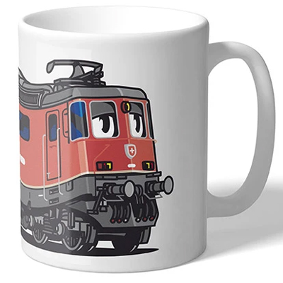VANDALS ON HOLIDAYS Tasse SBB RE-420 red