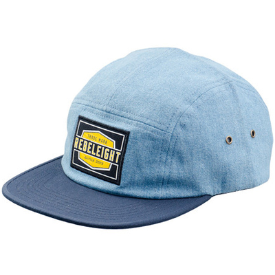 REBEL8 5Panel Cap WORK BADGE chambray/navy