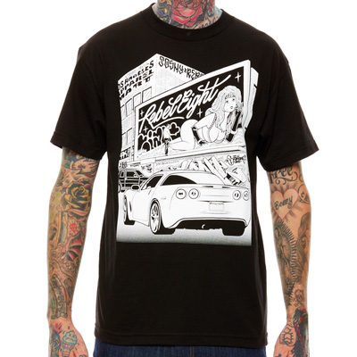 REBEL8 T-Shirt ANGEL black/white