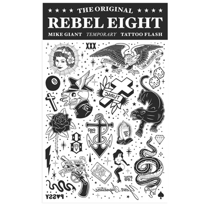 REBEL8 Temporary Tattoo Flash Set