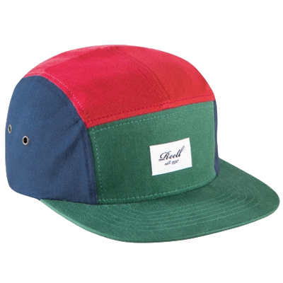 REELL 5Panel Cap red/green/navy
