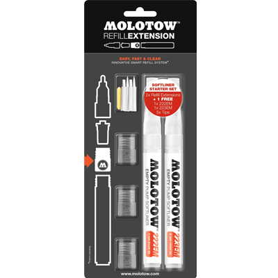 MOLOTOW Marker Refill Extension Softliner Starter Kit