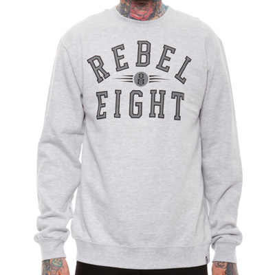 REBEL8 Sweater REIGNING CHAMPS heather grey