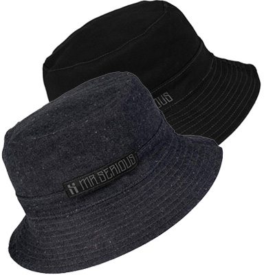 MR. SERIOUS Bucket Hat REVERSIBLE black/jeans