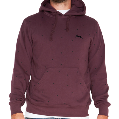 ROCKWELL Hoody DOTTED LEAP & RUN eggplant