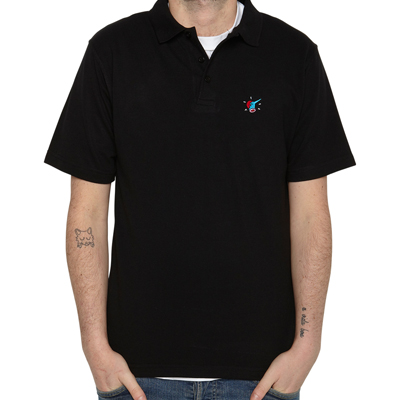 ROCKWELL Polo Shirt CHOPPED HEAD black
