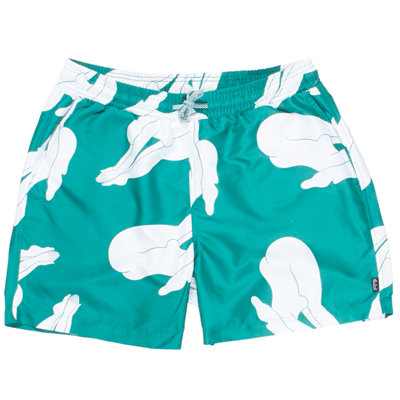 ROCKWELL Swim Shorts DIVE green/white