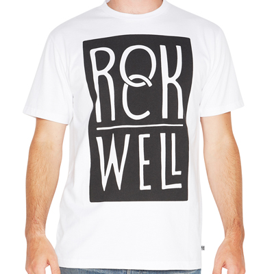 ROCKWELL T-Shirt SERIOUS LOGO white