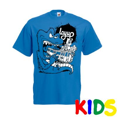 LAYUP X ROSY ONE T-Shirt TRAIN MONSTER royal blue - Kids