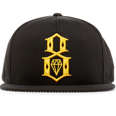 REBEL8 Snap Back Cap RR LOGO black/yellow