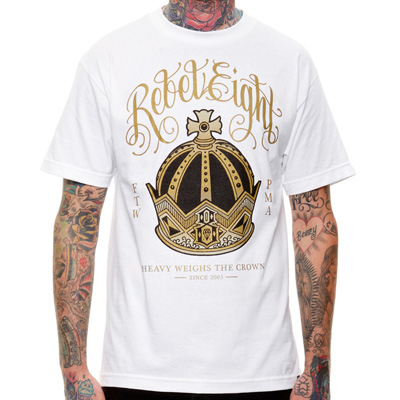 REBEL8 T-Shirt RULERS white/gold