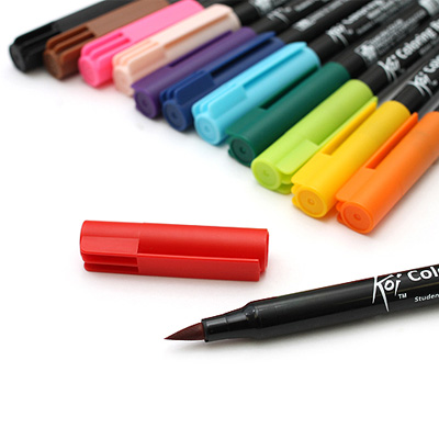 Sakura - SAKURA KOI Coloring Brush Pens Single Marker Layup Online ...