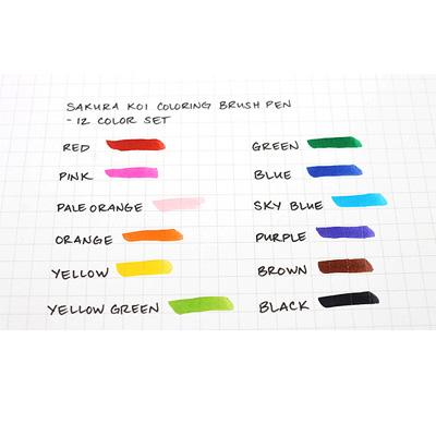 SAKURA KOI Coloring Brush Pens 12er Set Color