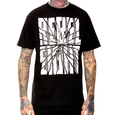 REBEL8 T-Shirt SAN ANDREAS black/white