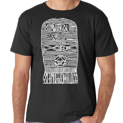 SCHMUGGLERHUDLÄ T-Shirt MASK black