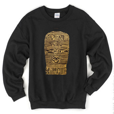 SCHMUGGLERHUDLÄ Sweater MASK black/gold