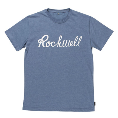 ROCKWELL T-Shirt SCRIPT LOGO heather indigo blue