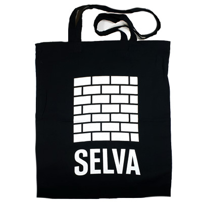 SELVA Tote Bag BRICKS LOGO black
