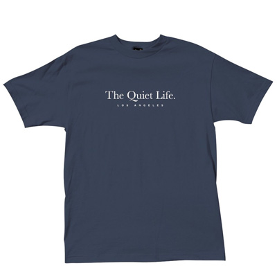THE QUIET LIFE T-Shirt SERIF navy