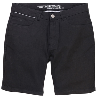 CLEPTOMANICX Shorts STASHO DENIM black