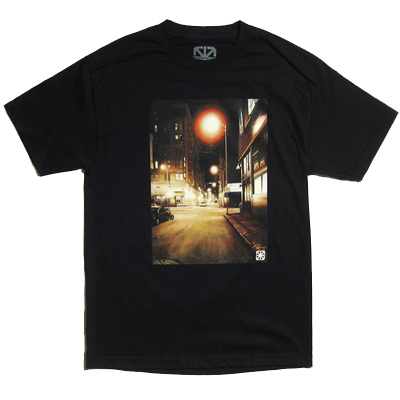 7TH LETTER T-Shirt SIXTH black