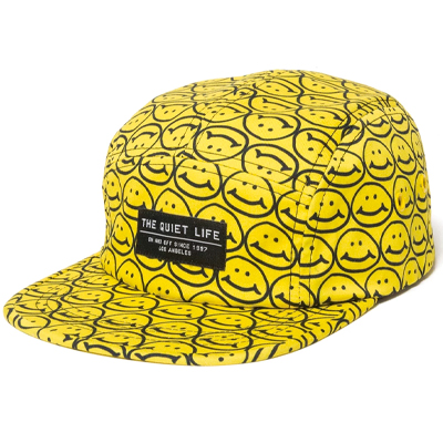 THE QUIET LIFE 5Panel Cap SMILEY yellow