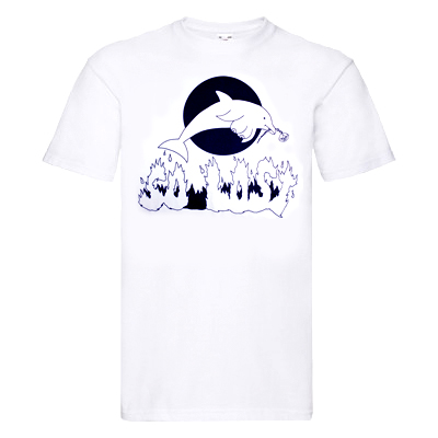 SO LOST T-Shirt DOLPHIN white/black