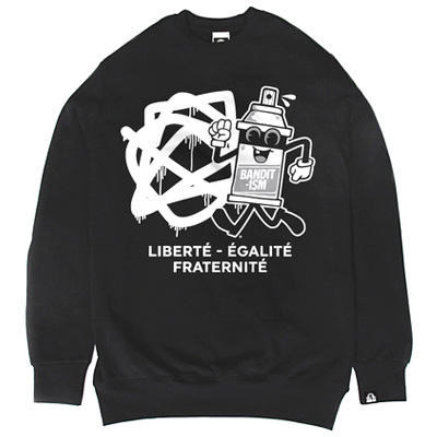 BANDITISM Sweater SPRAYCAN ATHLETIC black