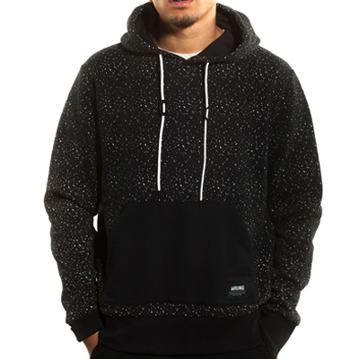WRUNG Hoody SPRAY DOTS black