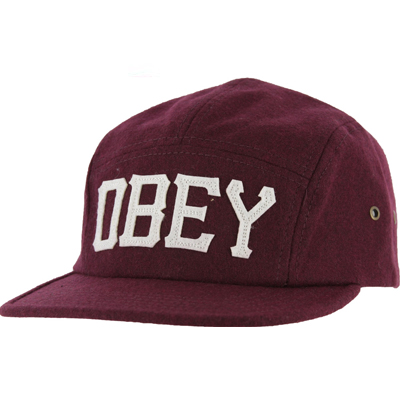 OBEY 5Panel Cap STADIUM burgundy